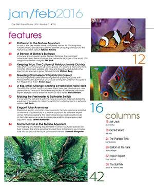 Tropical Fish Hobbyist 2016.01-02. #716 Inside